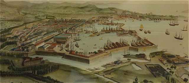 Порт Тулона в 18 веке