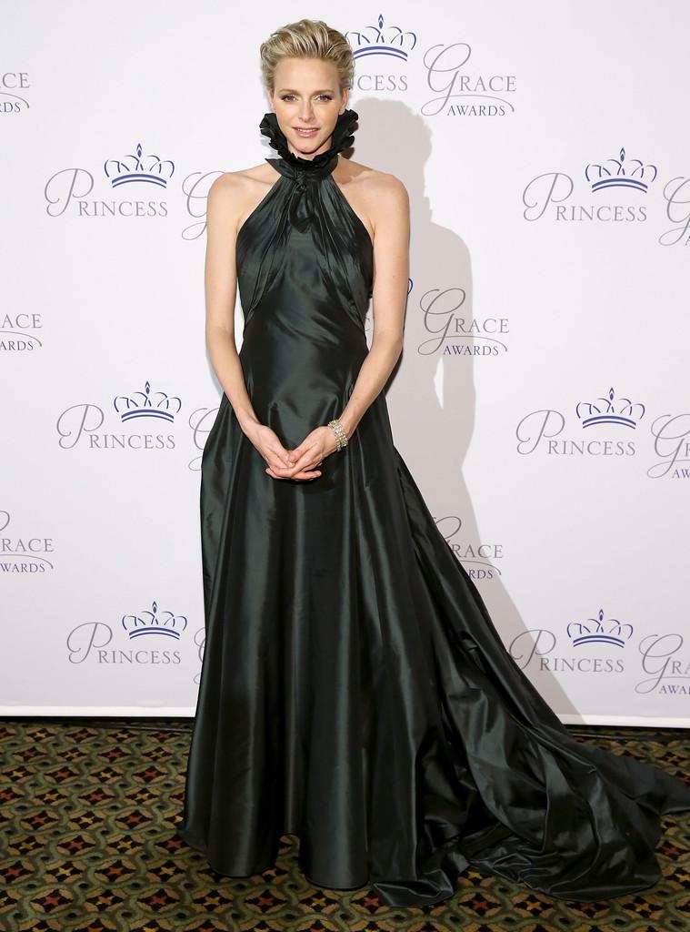 Шарлен на вручении наград принцессы Грейс, 2013 год