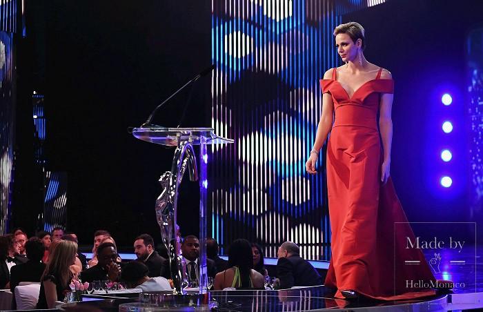 Принцесса Шарлен на церемонии Laureus-2017