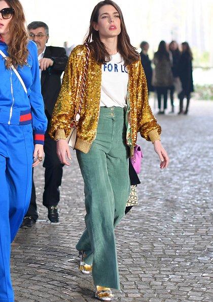 Шарлотта - показ Gucci на миланской Неделе моды