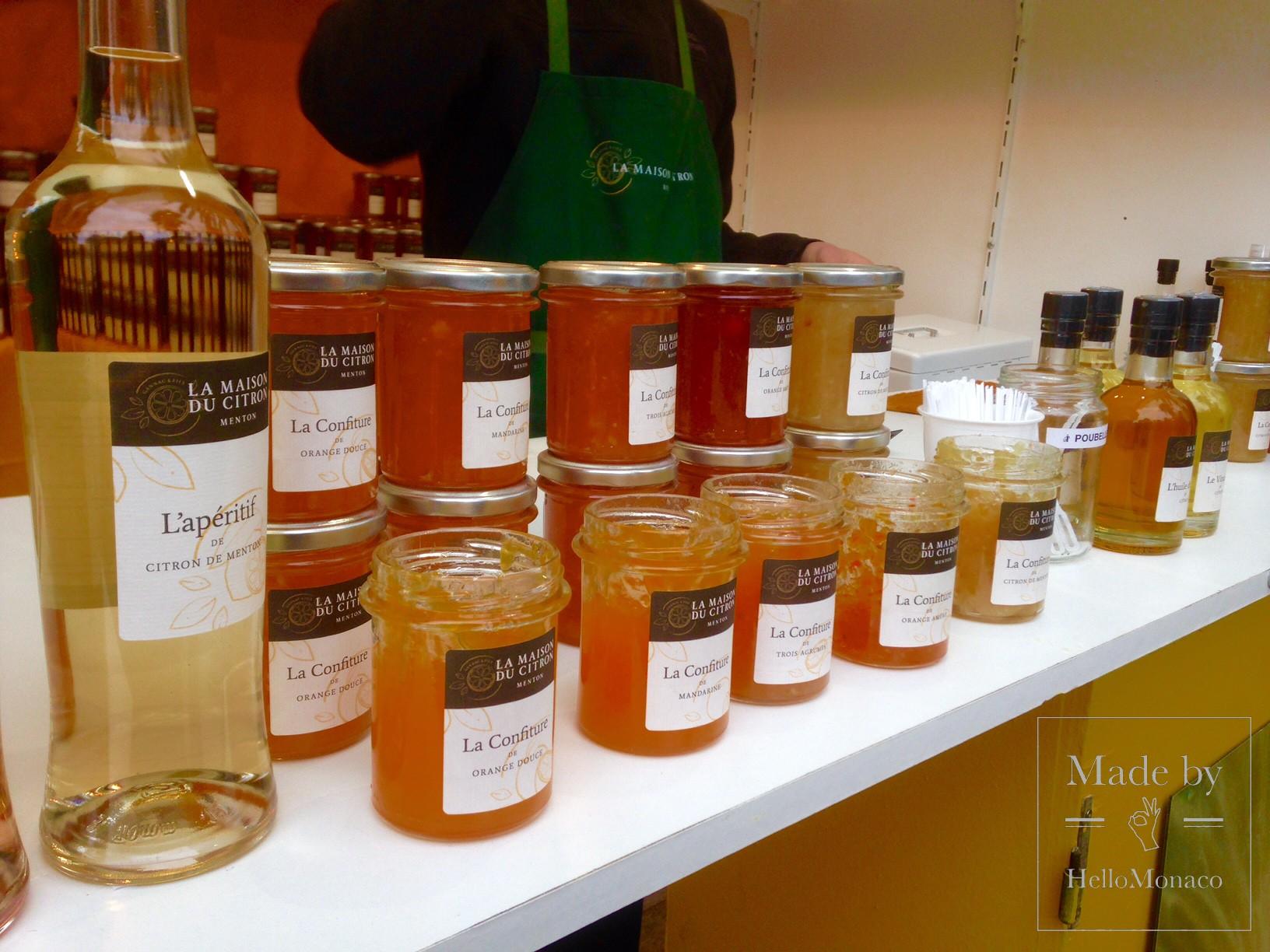 Продукты из цитрусовых на Фестивале лимонов в Ментоне-2017