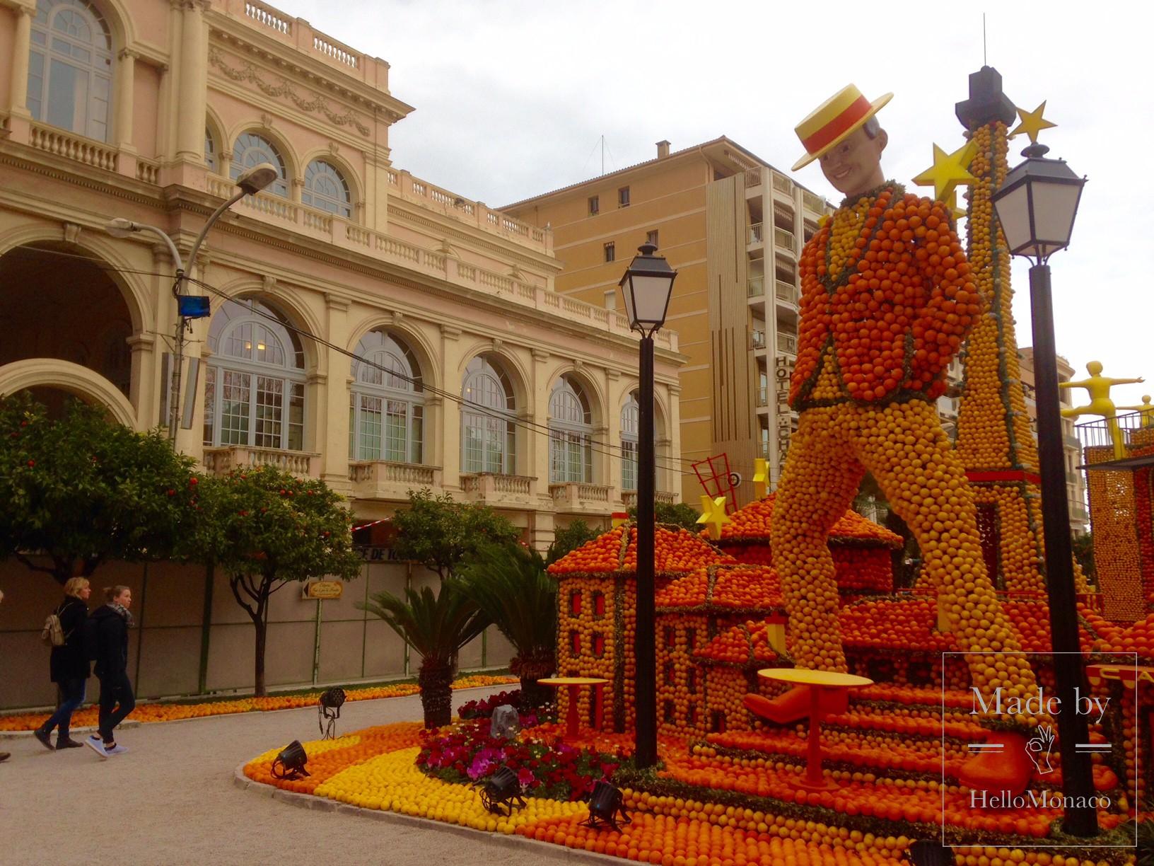 Скульптура на Фестивале лимонов в Ментоне-2017