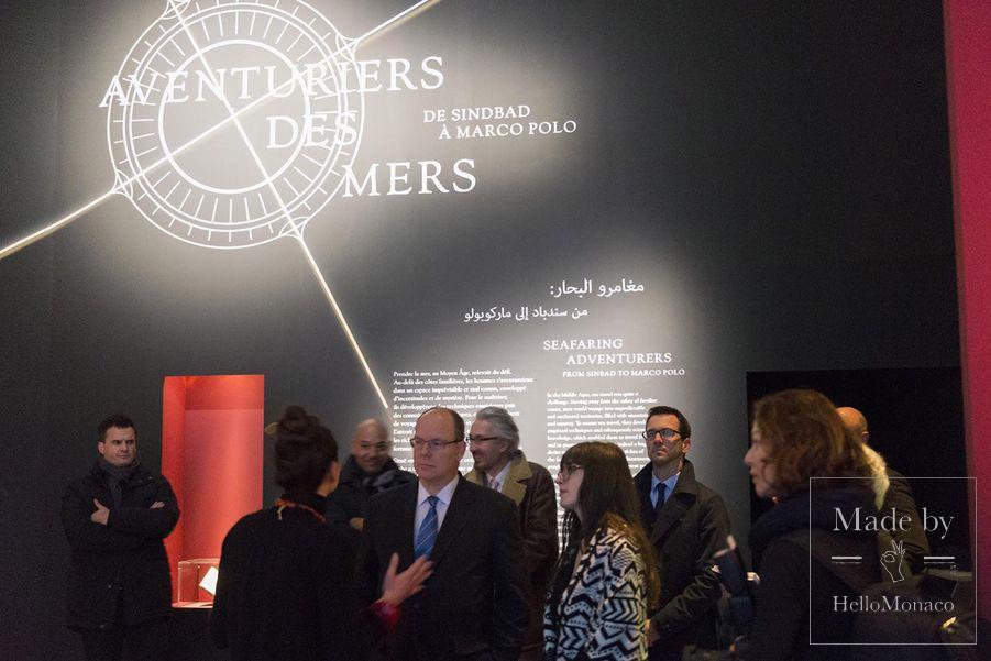 Князь Альбер II на парижской выставке