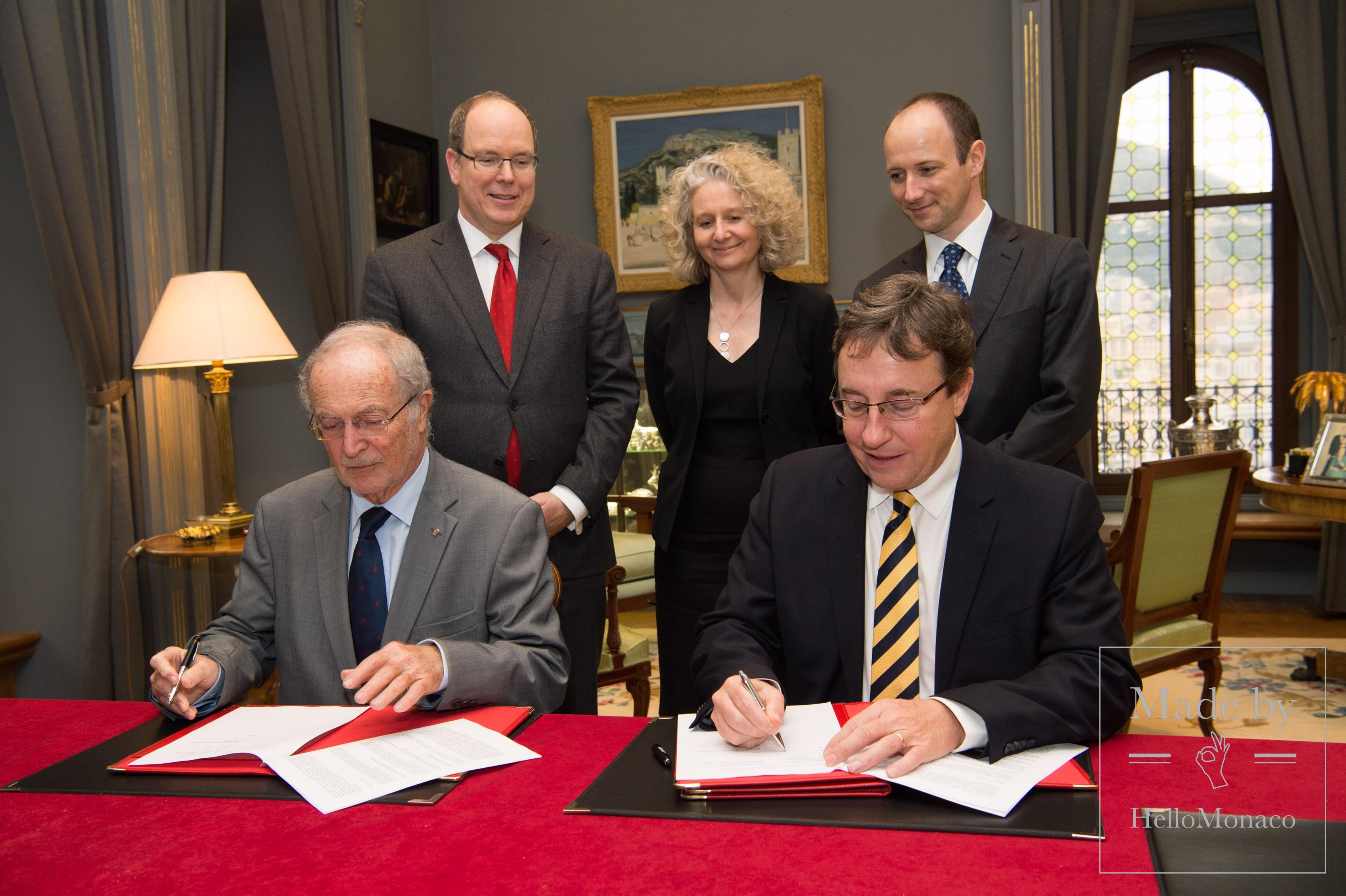 Соглашение между Фондом Альбера II Oxford Martin School