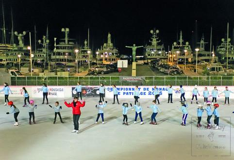 Чемпионат по фигурному катанию на катке в Монако