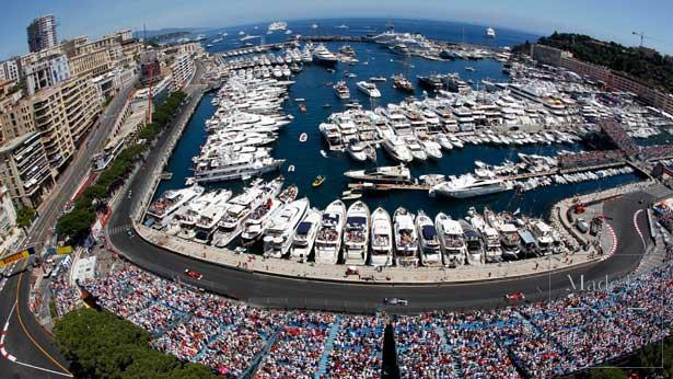 Яхты и трасса Формулы-1 в Монако