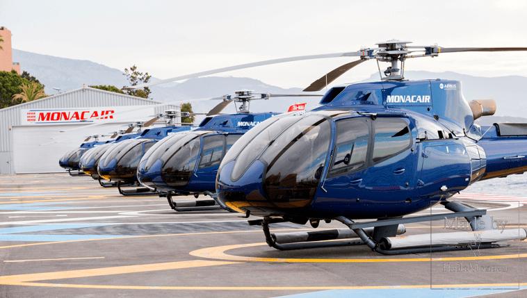 Вертолет в Монако