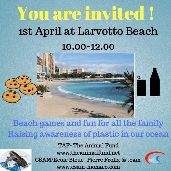 Игры и развлечения во имя экологии на пляже Ларвотто