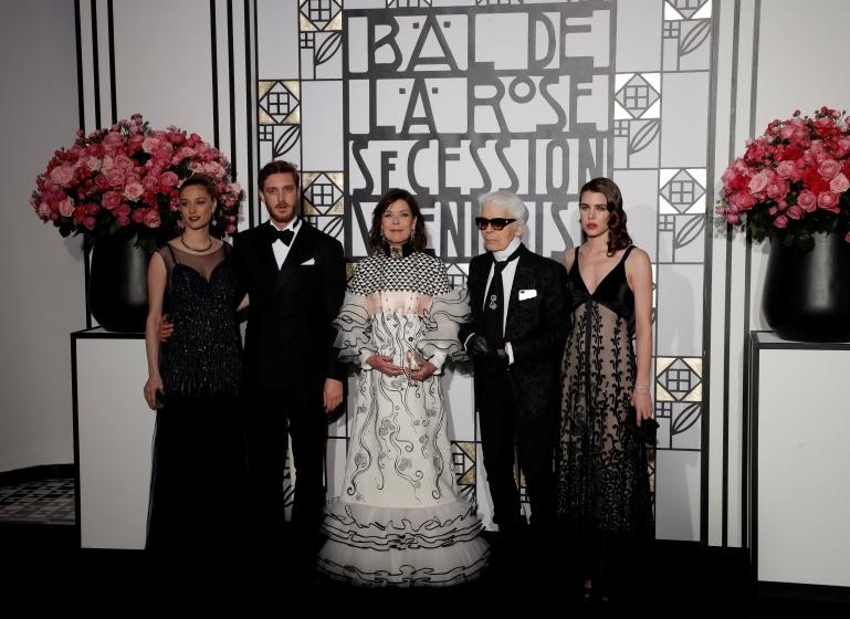 Беатрис Борромео, Пьер Казираги, принцесса Каролина, Карл Лагерфельд, Шарлотта Казираги