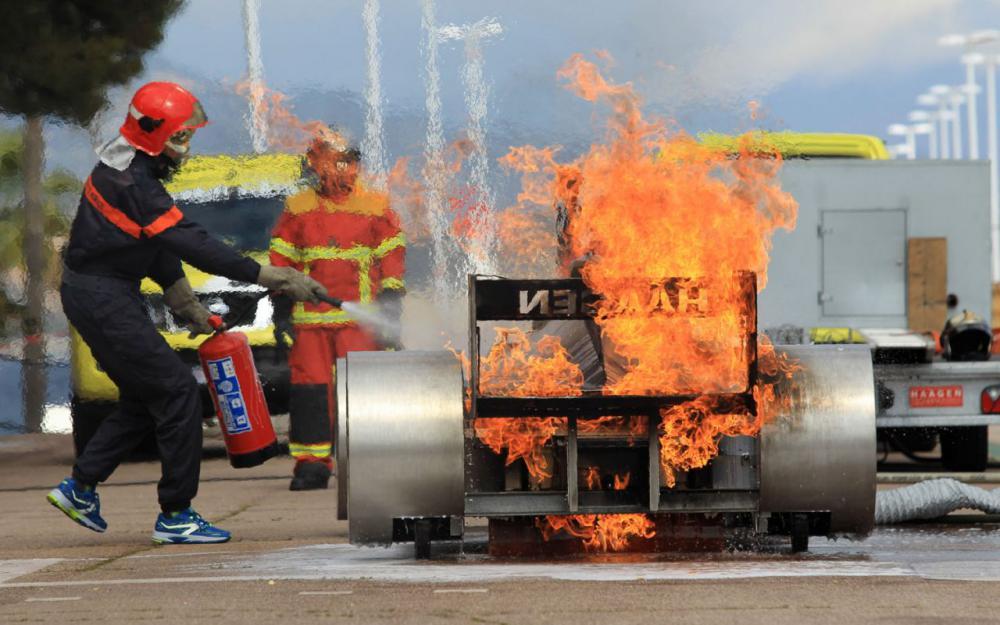 Тренировка при пожаре на Формуле-1