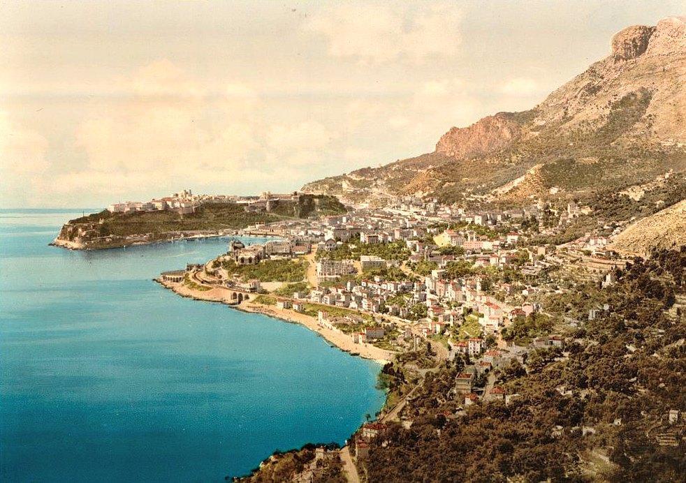 Вид на Монако с Кап-Мартен