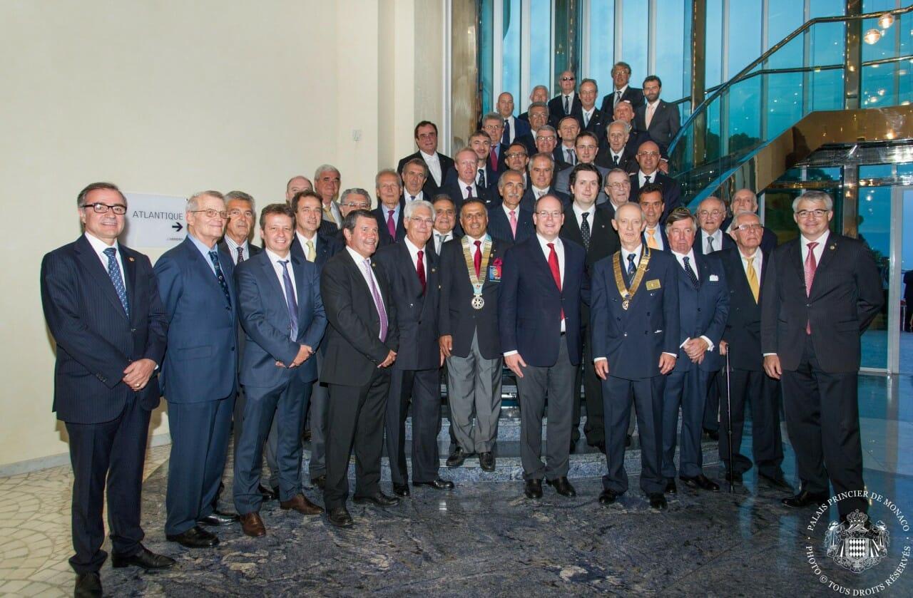 Альбер II и Rotary club