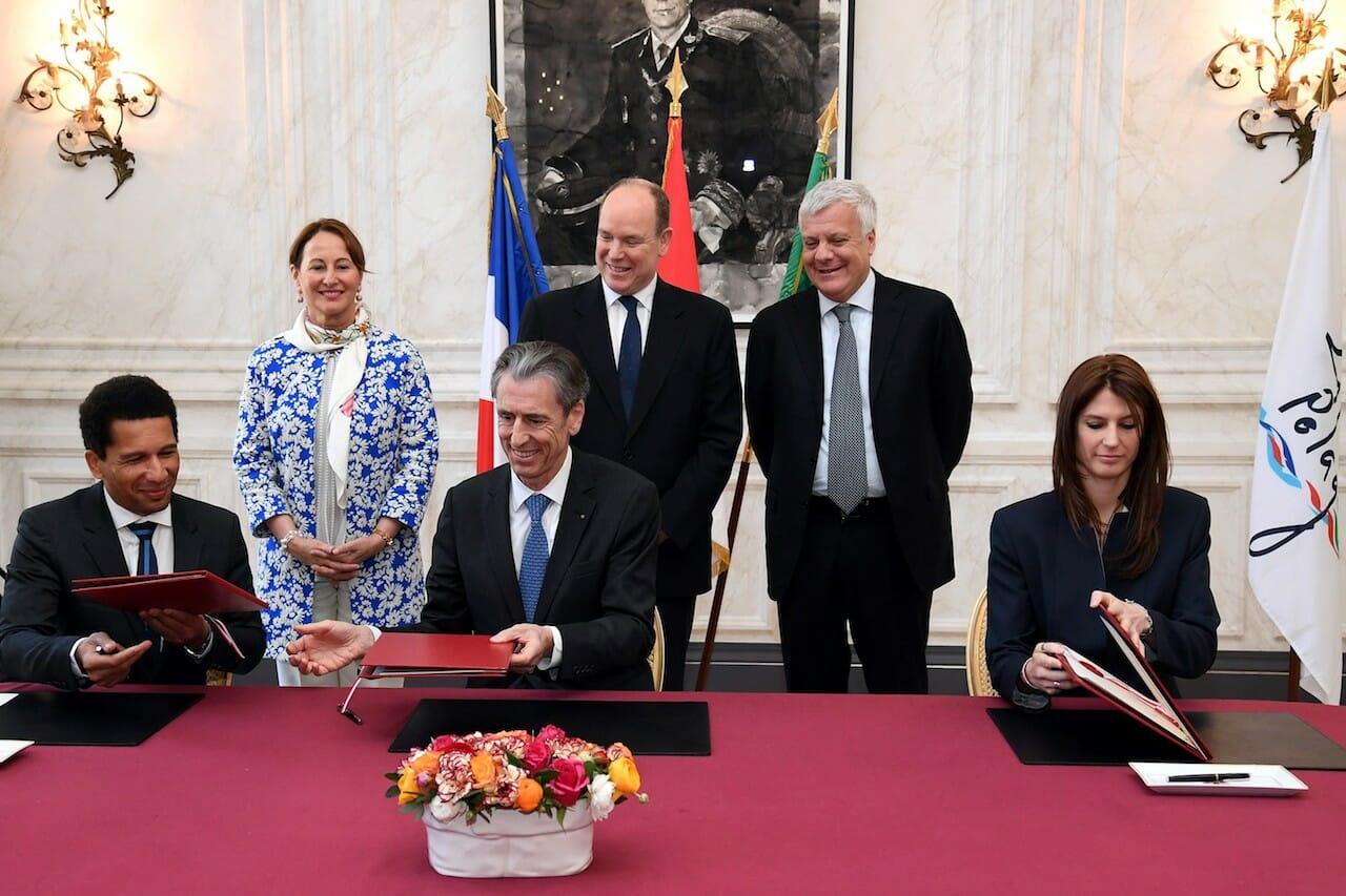 Встреча Альбера II и Сеголен Руаяль