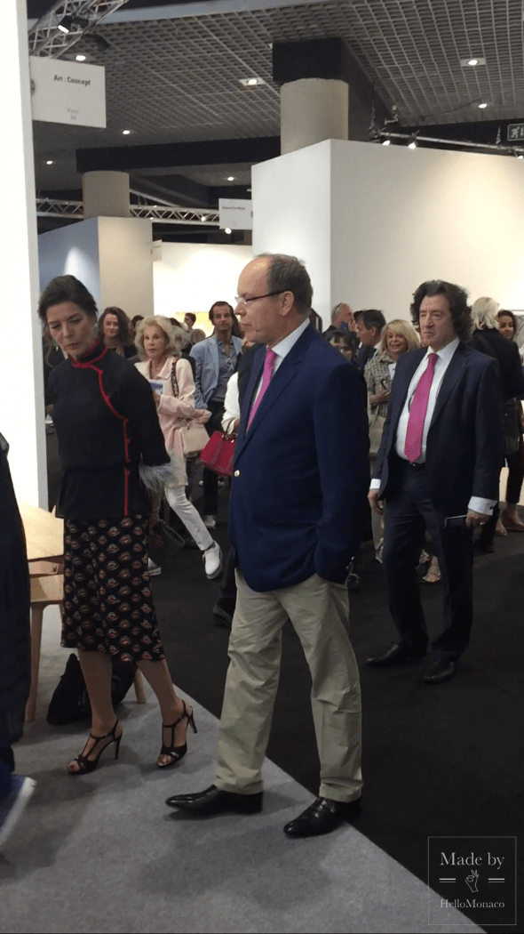 Князь Альбер II на Art Monte-Carlo - 2017