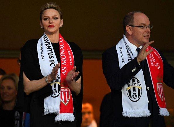 Княжеская чета на матче «Монако» - «Ювентус»