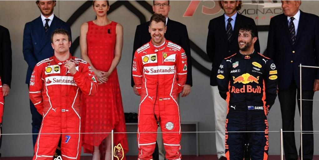 подиум Гран-при Монако