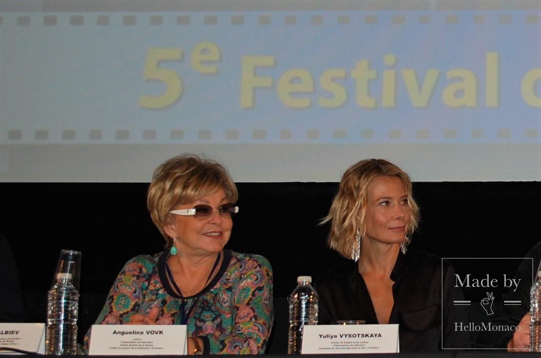 Юлия Высоцкая на 5-м Фестивале российского кино в Ницце