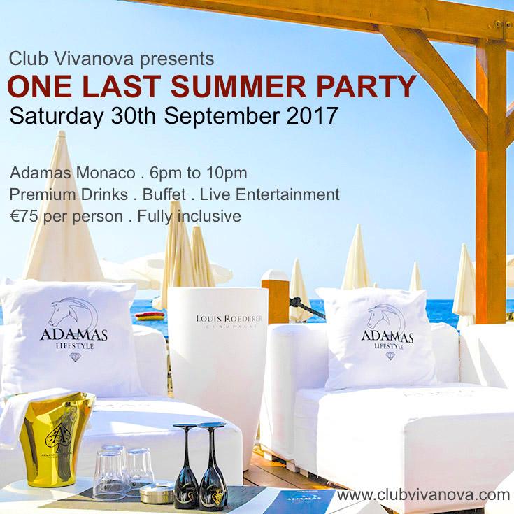 Вечеринка ONE LAST SUMMER PARTY от клуба Vivanova