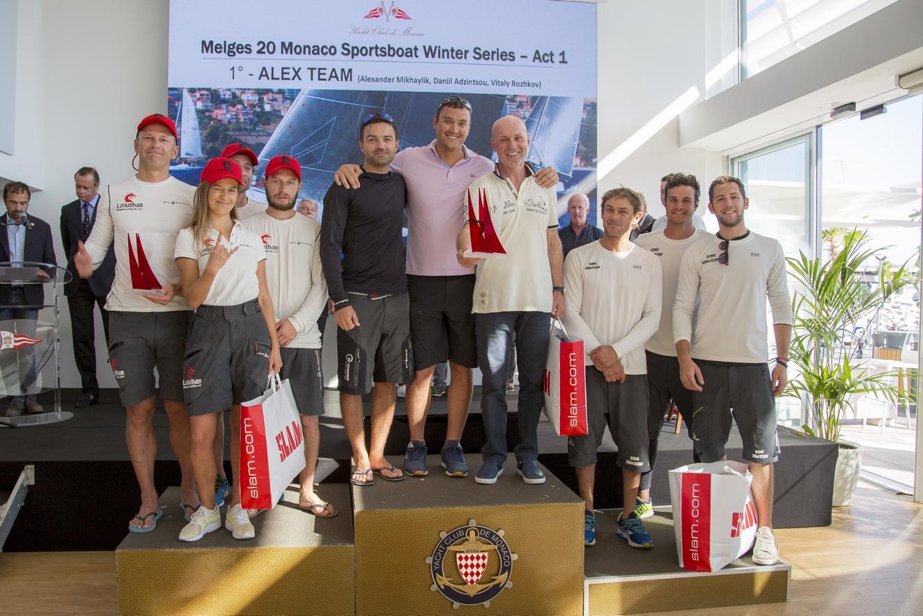 Победители первого этапа зимней регаты Monaco Sportsboat Winter Series