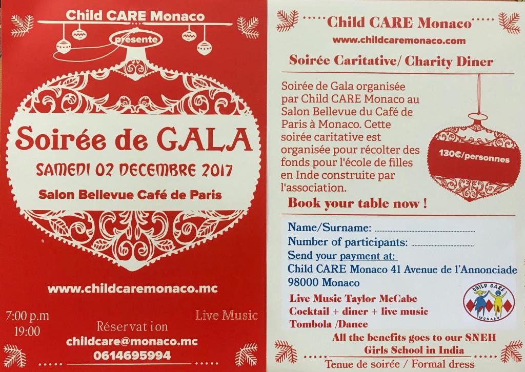 Рождественский гала-ужин с Child Care Monaco