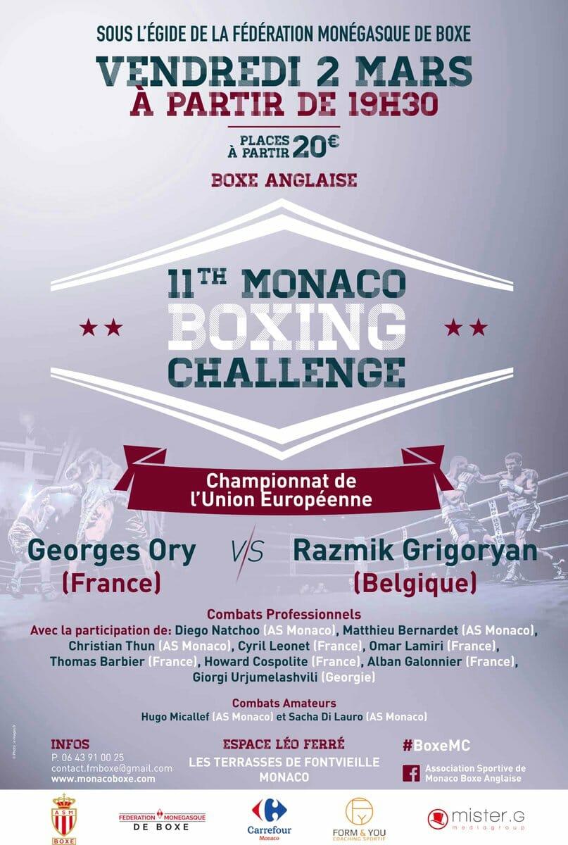 11-й Турнир по боксу Monaco Boxing Challenge