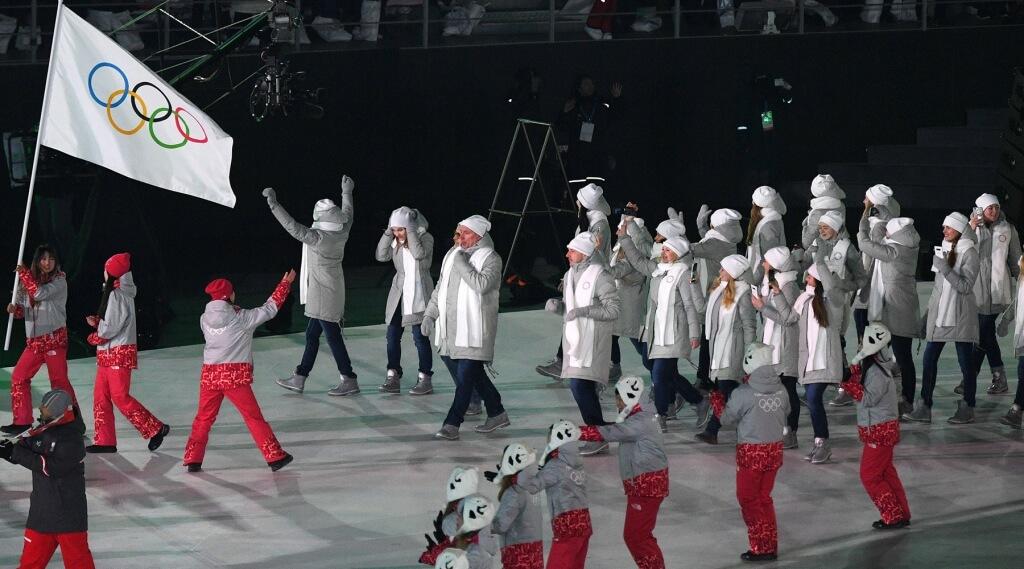 Сборная Монако на церемонии открытия XXIII зимних Олимпийских игр