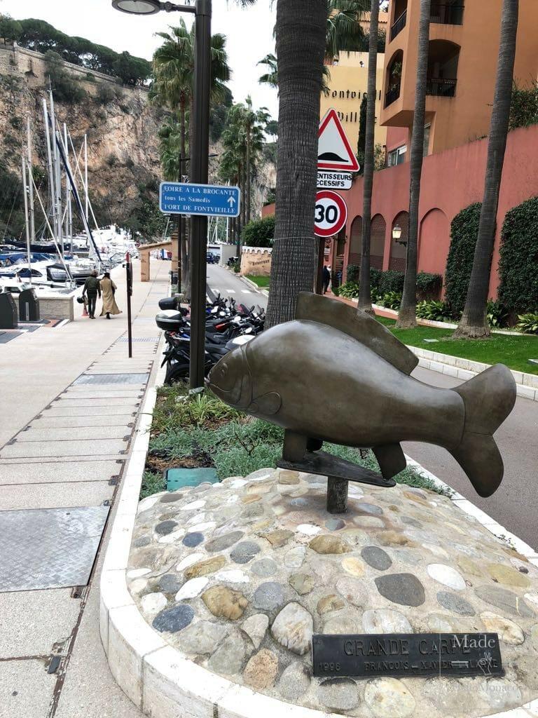 Скульптуры Монако: продолжая прогулку по Фонвьей