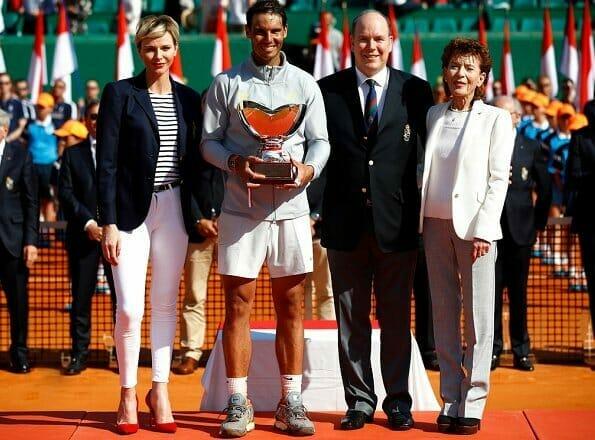 Дела княжеские: княжеская пара наградила победителя Rolex Monte Carlo Masters