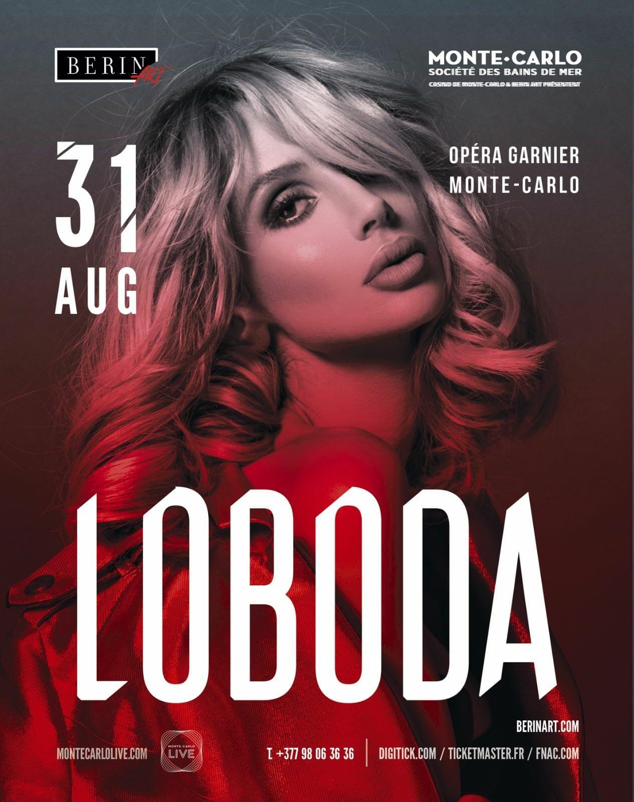Самая успешная звезда современности LOBODA впервые выступит в Монако