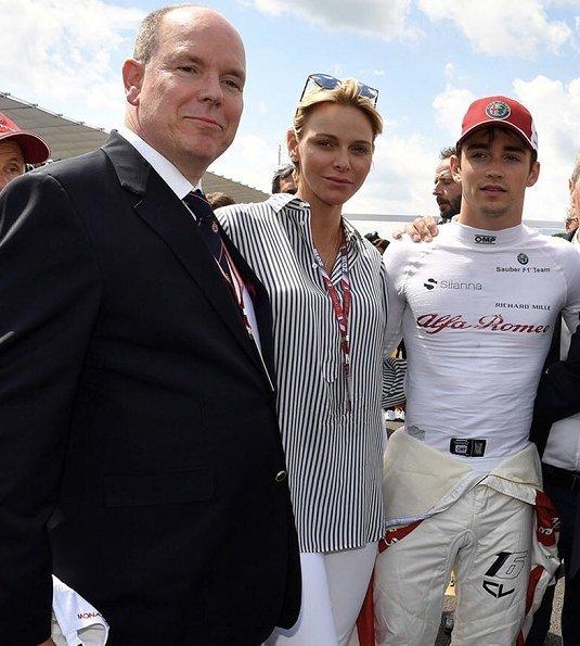 Дела княжеские: княжеская пара на Гран-при Формулы-1 во Франции
