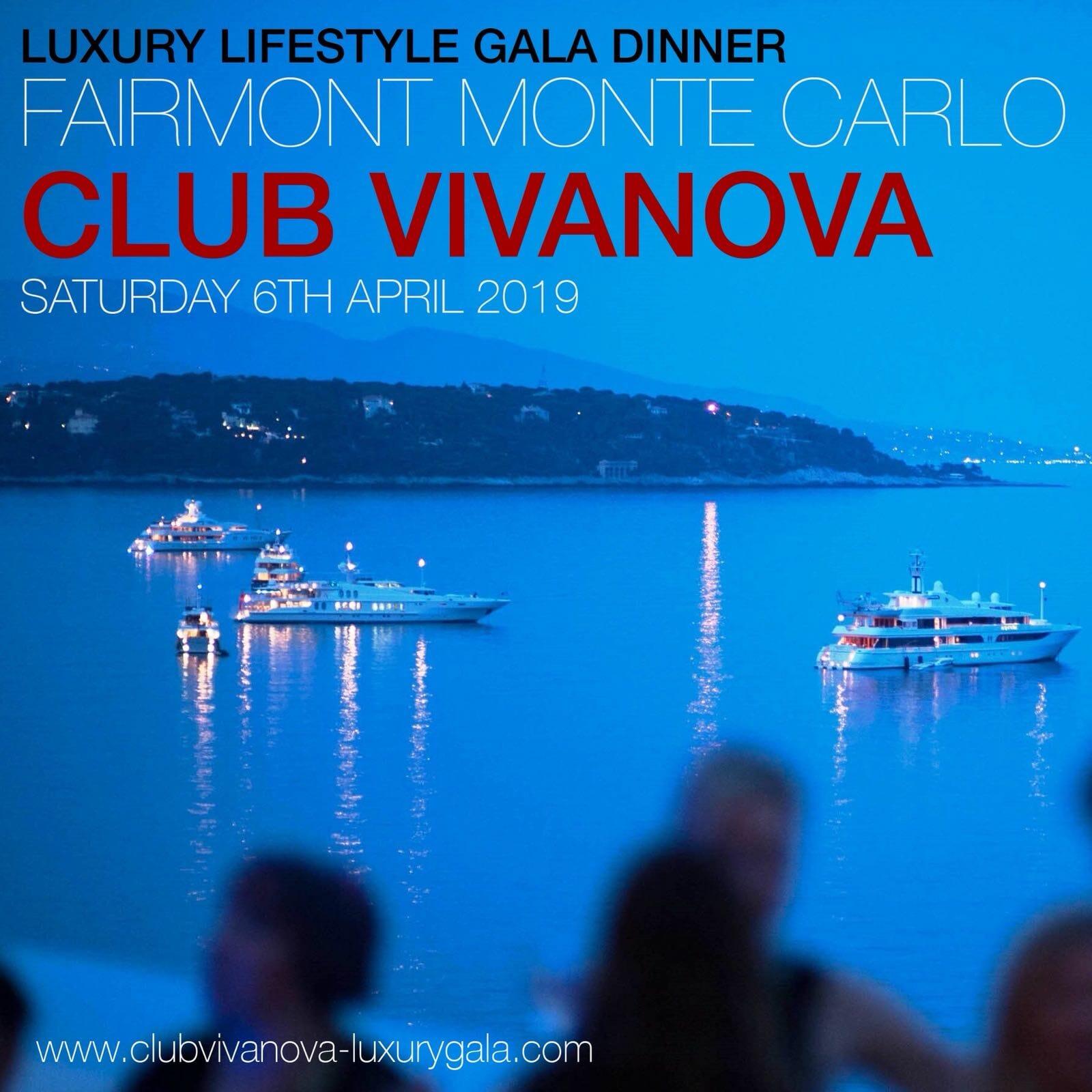 Клуб Vivanova объявляет о запуске 5-го гала-ужина 2019 Luxury Lifestyle Gala Dinner и о новых партнерах