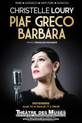 """Музыкальный спектакль """"Piaf, Greco, Barbara"""" в Театре Муз"""