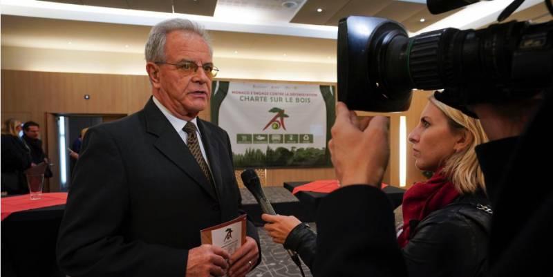 Бернард Фотье,вице-президент Фонда князя Альбера II