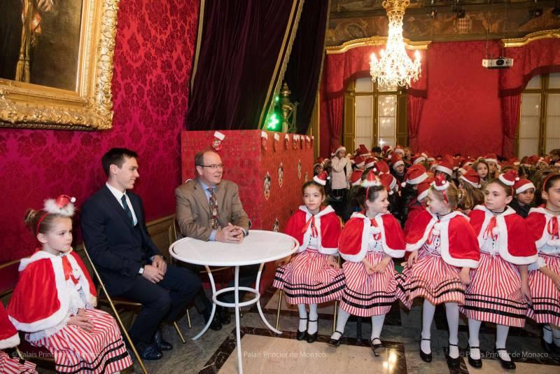 Состоялась ежегодная Рождественская елка для юных монегасков в Княжеском дворце