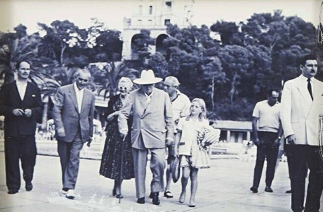 Черчилль в Монако в 1958 году