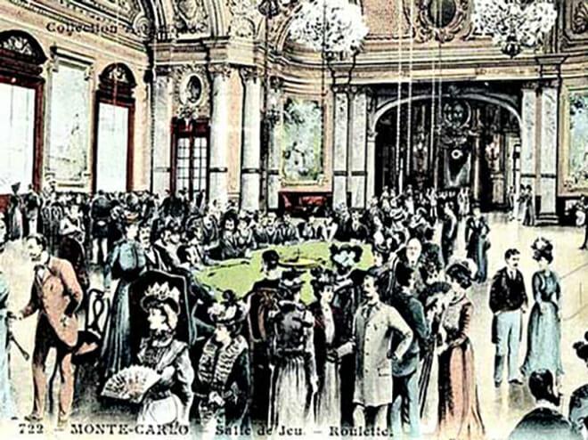 Почтовая открытка с изображением Казино Монте-Карло