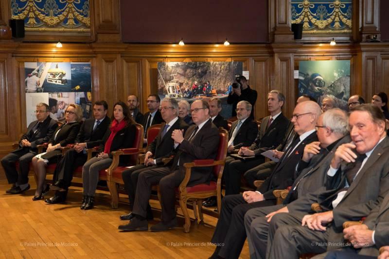 Дела княжеские: князь Монако на открытии Комитета памяти Альбера I