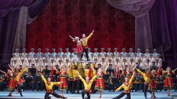 Выступление Хора Красной Армии в Ницце