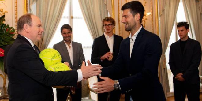 Звезды тенниса на приеме у князя Монако