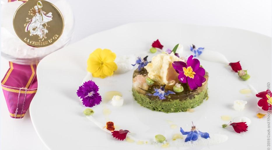 Fine dining: живые цветы на тарелке