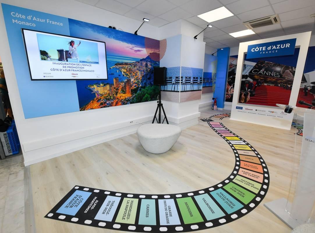 Новая зона в аэропорту Ниццы: CÔTE D'AZUR FRANCE и VISIT MONACO