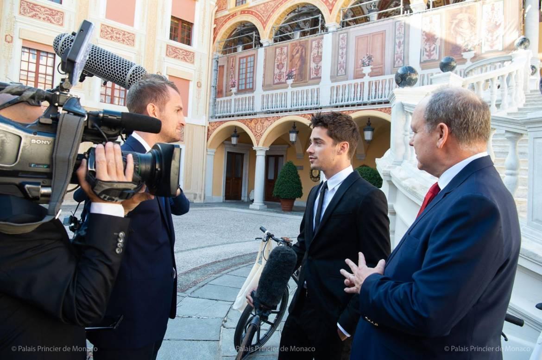 Дела княжеские: Шарль Леклер был принят Альбером II во Дворце