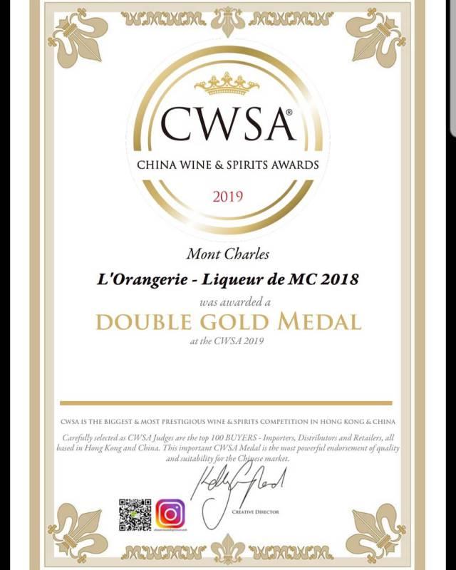 Монакский ликер L'Orangerie завоевывает награду в Китае