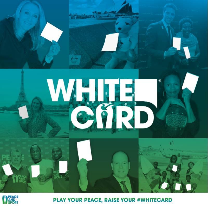 #WhiteCard: мобилизация приверженных делу мира и спорта организаций