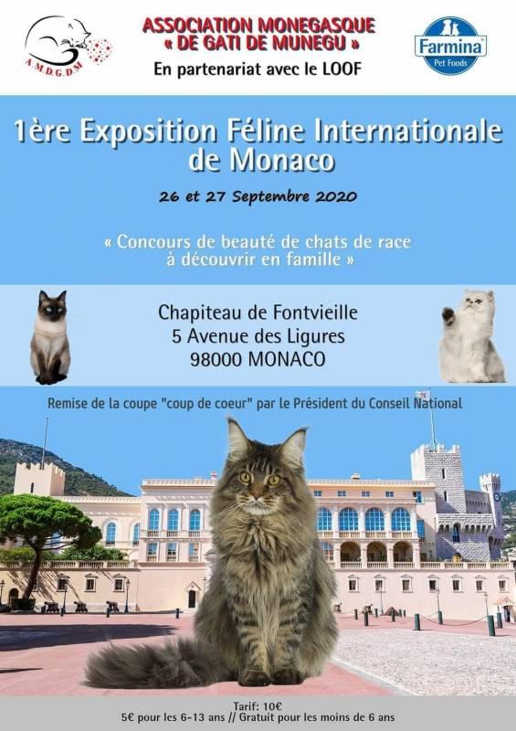 1-я Международная выставка кошек в Монако