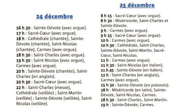 Рождественские церковные службы в Монако