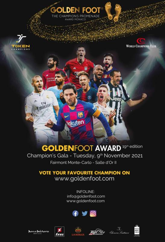 Гала чемпионов Golden Foot Awards 2021